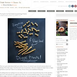 Dog Treats Recipe with Pumpkin – Homemade dog biscuits