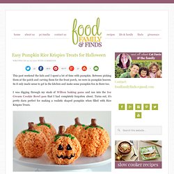 Easy Pumpkin Rice Krispies Treats for Halloween - StumbleUpon