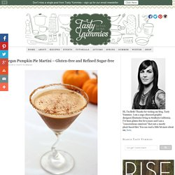 Vegan Pumpkin Pie Martini - Gluten-free and Refined Sugar-free