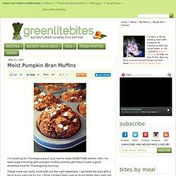 Moist Pumpkin Bran Muffins