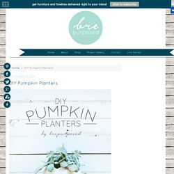 DIY Pumpkin Planters - brepurposed