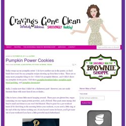 Pumpkin Power Cookies | Cravings Gone Clean