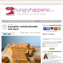 pumpkin snickerdoodle oat bars
