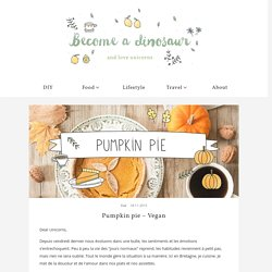 Pumpkin pie – Vegan