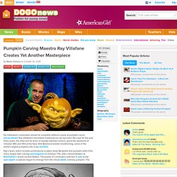 Pumpkin Carving Maestro Ray Villafane Creates Yet Another Masterpiece