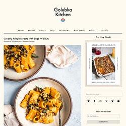 Creamy Pumpkin Pasta with Sage Walnuts - Golubka Kitchen