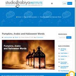 Pumpkins, Arabic and Halloween Words - Blog