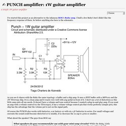 PUNCH amplifier: 1W guitar amplifier