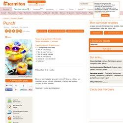 Punch - Recette de cuisine Marmiton : une recette