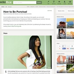 How to Be Punctual: 16 steps