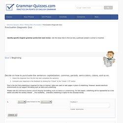 Italics  Grammar Quizzes
