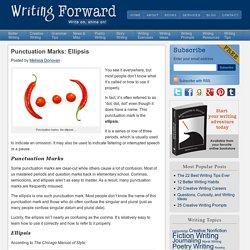 Punctuation Marks: Ellipsis
