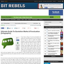 Ultimate Guide To Quotation Marks & Punctuation [Infographic]