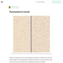 Punctuation in novels