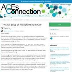 The Absence of Punishment in Our Schools