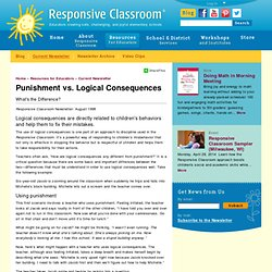 Punishment vs. Logical Consequences