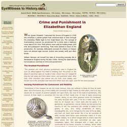 Crime and Punishment in Elizabethan England