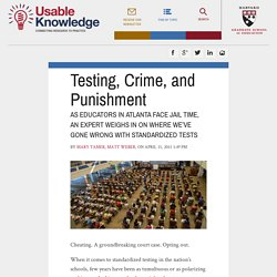Testing, Crime, and Punishment
