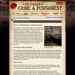 Types of Punishment - Imprisonment - Victorian Crime and Punishment from E2BN