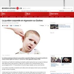 La punition corporelle en régression au Québec