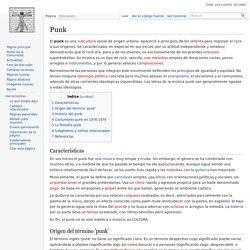 Punk. Artículo de la Enciclopedia.