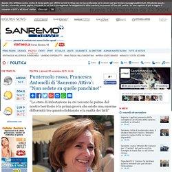 """Punteruolo rosso, Francesca Antonelli di 'Sanremo Attiva': """"Non sedete su quelle panchine!""""-Quotidiano online della provincia di Imperia"""