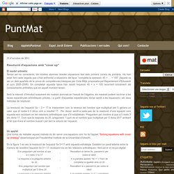 "PuntMat: Resolució d'equacions amb ""cover up"""