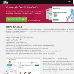 Creador de Quiz Online Gratis con Puntuación Automática - 123ContactForm