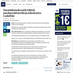 Suomidemokraatit tähtää puoluerekisteriin ja eduskuntavaaleihin - Puolueet - Politiikka
