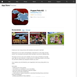 Puppet Pals HD for iPad on the iTunes App Store