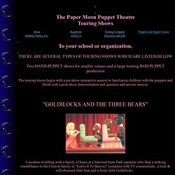 Paper Moon Puppet Theatre Touring Company