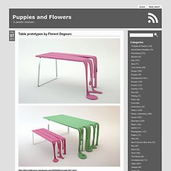 Puppies and Flowers » Table prototypes by Florent Degourc