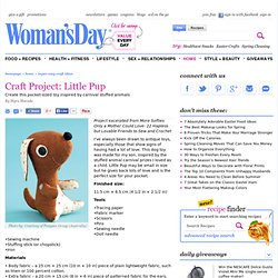 How to Sew a Puppy Dog Doll at WomansDay.com - Free Craft Ideas