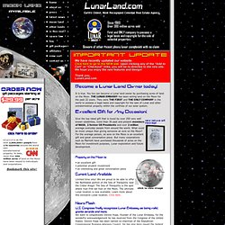 Purchase Moon Land - Authorized Lunar Embassy Agent