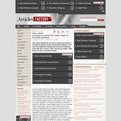 Easy online purchase in Kuwait for latest range of branded desktops