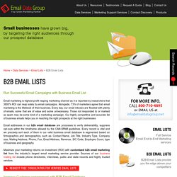 Purchase Business Email Addresses Database