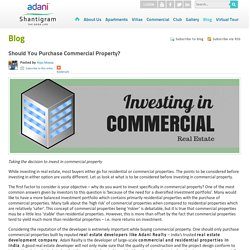 Should You Purchase Commercial Property?