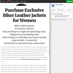 Purchase Exclusive Biker Leather Jackets for Women