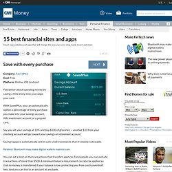 Save with every purchase - 15 best financial sites and apps