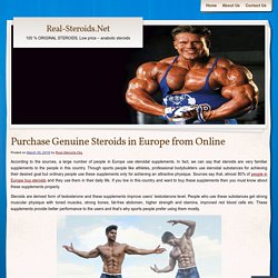 Purchase Genuine Steroids in Europe from Online