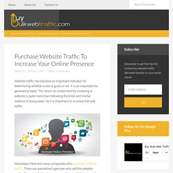 Purchase Website Traffic To Increase Your Online Presence