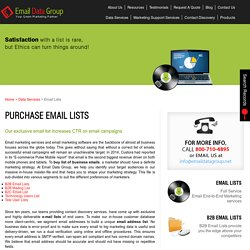 Purchase Email Marketing Lists