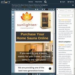 Purchase the Best Home Sauna Online by Sunlighten