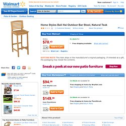 Home Styles Bali Hai Outdoor Bar Stool, Natural Teak: Patio Furniture & Decor