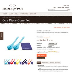 Purchase Pair of One - piece Cone Poi