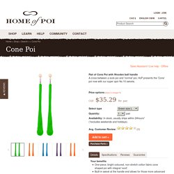 Purchase Pair of Cone Poi with Wooden ball handle