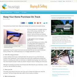 Prevent Home Sale From Collapsing