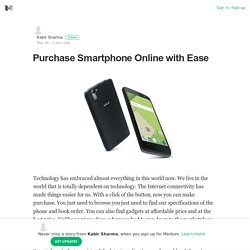 Purchase Smartphone Online with Ease