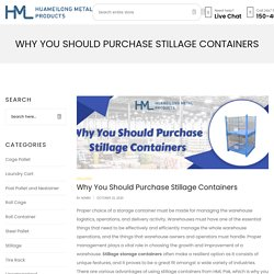 Why You Should Purchase Stillage Containers
