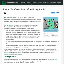 In-App Purchase Tutorial: Getting Started